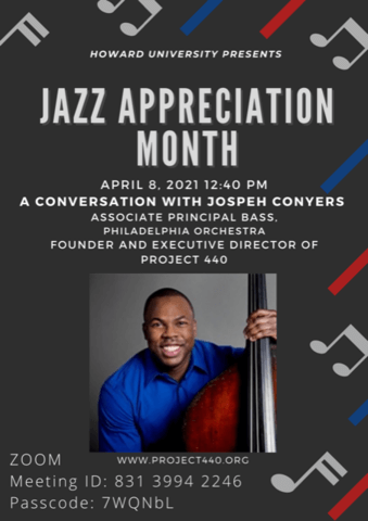 Flyer for Joseph Conyers @ Thursday Recital 2021-04-08